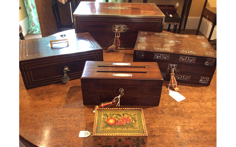 Group of early 19th century boxes